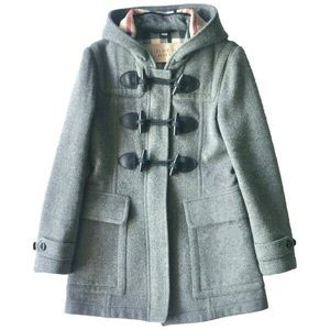 Auth Burberry toggle duffle wool coat US6